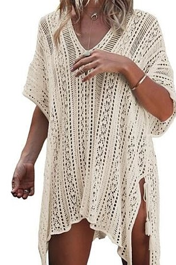 Women's Bathing Suit Cover up Beachwear Crochet Dress